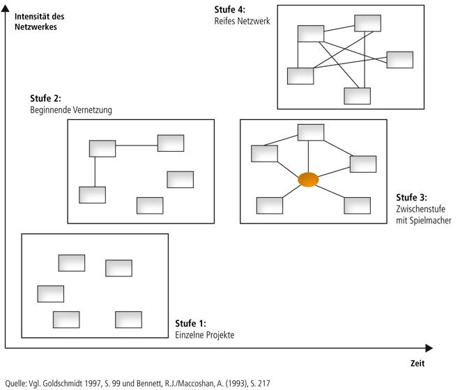 Entwicklungsphasen des Netzwerkaufbaues